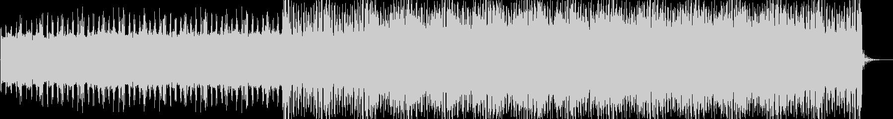 緊迫感 静かな SF系ノイズビートテクノの未再生の波形