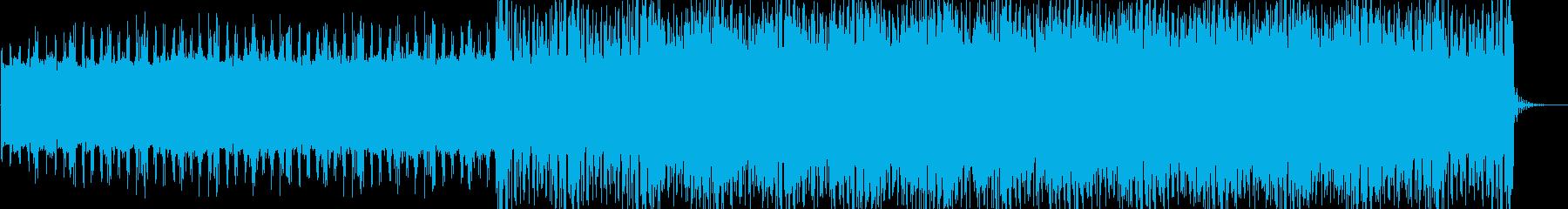 緊迫感 静かな SF系ノイズビートテクノの再生済みの波形