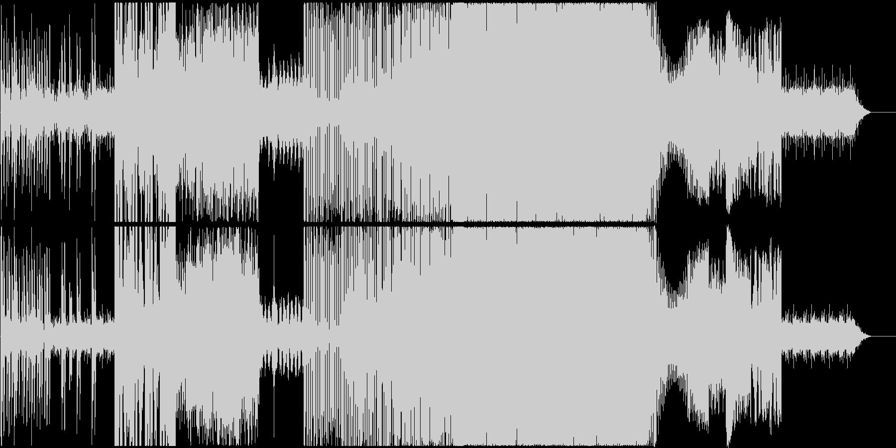 ごちゃごちゃサイバー系ドラムンベース風の未再生の波形