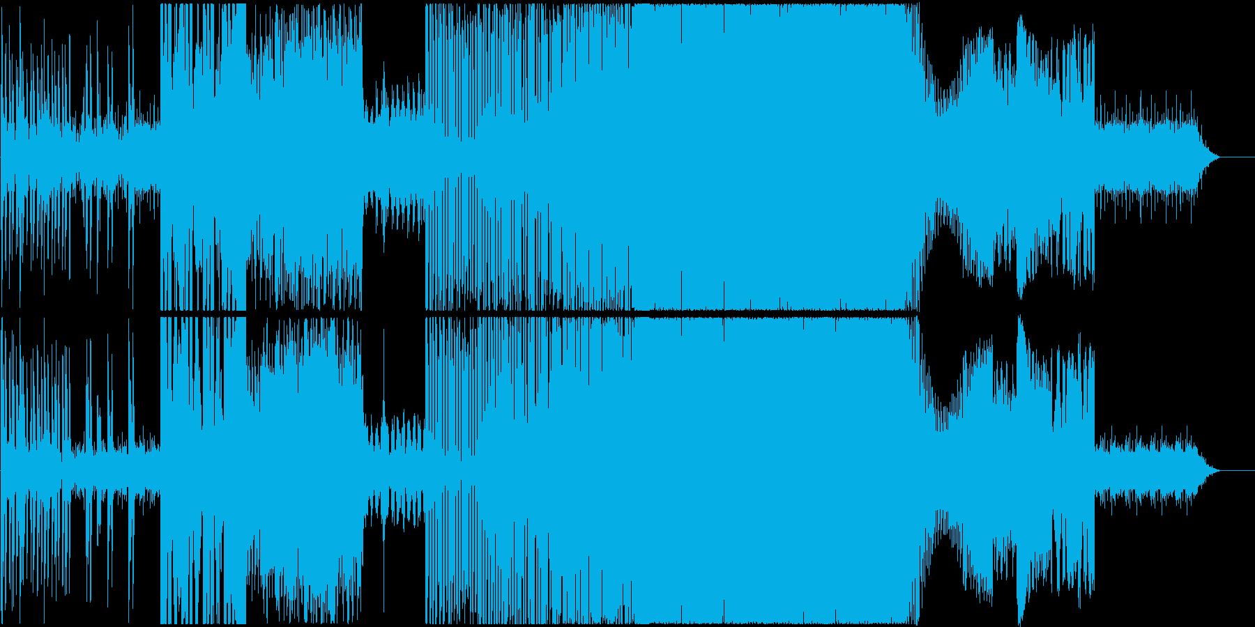 ごちゃごちゃサイバー系ドラムンベース風の再生済みの波形