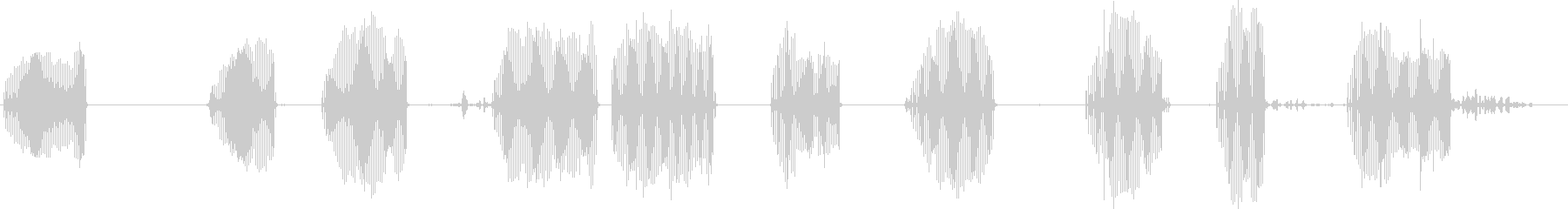 フリッカー、ノーザンチャープ、ノッ...の未再生の波形