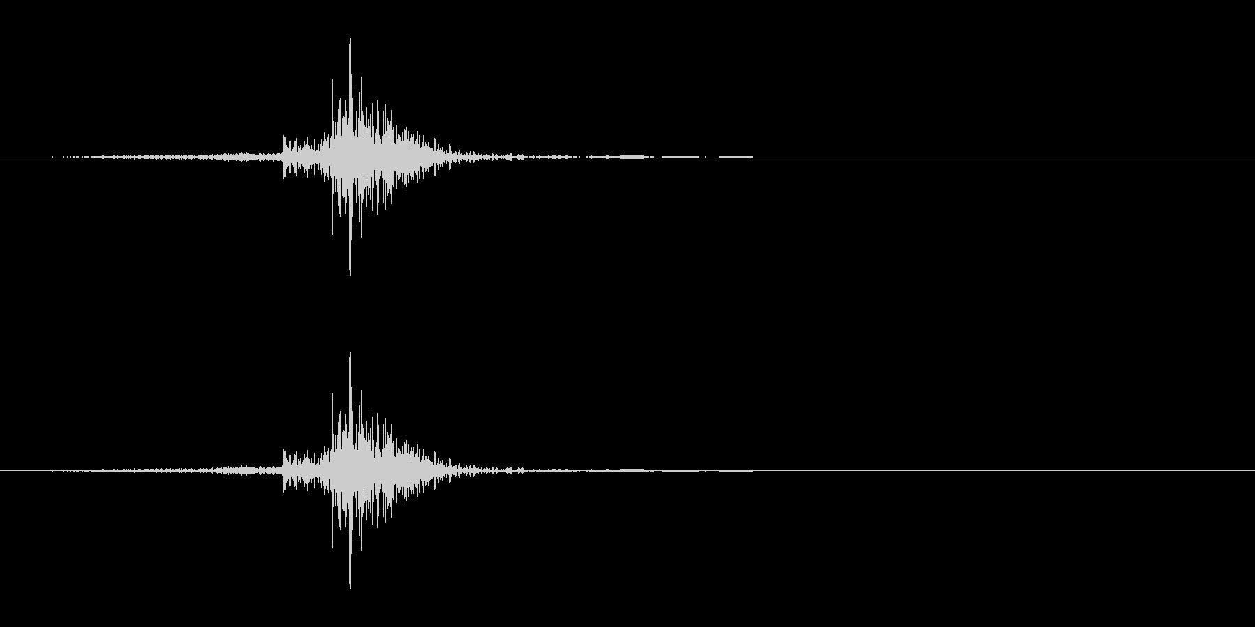 SNS風 通知音 送信音 シュポの未再生の波形