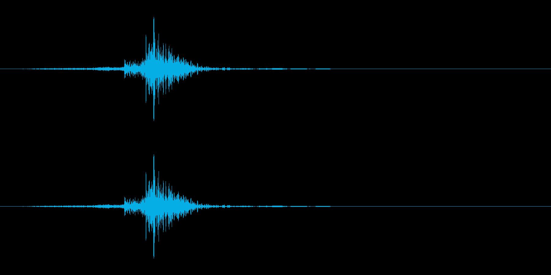 SNS風 通知音 送信音 シュポの再生済みの波形