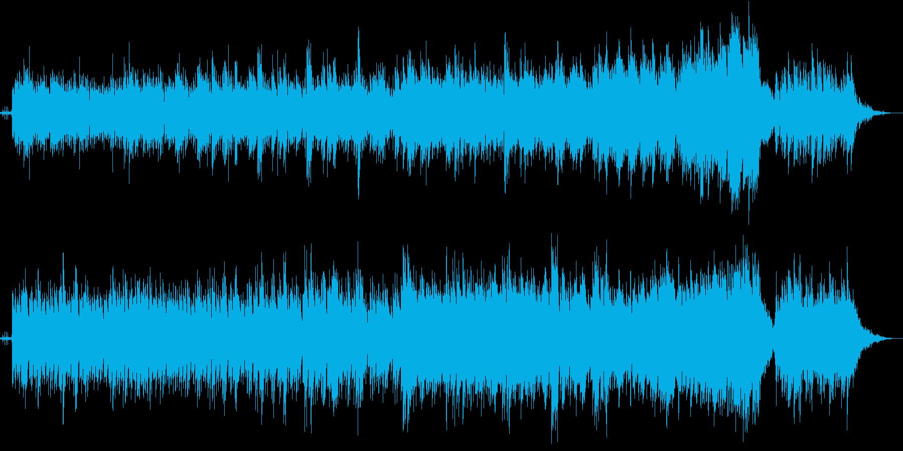 光がさすようなイメージのエレクトロニカの再生済みの波形