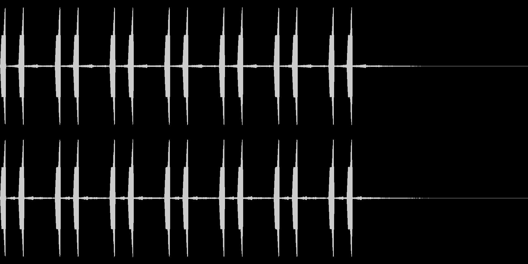 自主規制音 ひよこ ピヨピヨ の未再生の波形