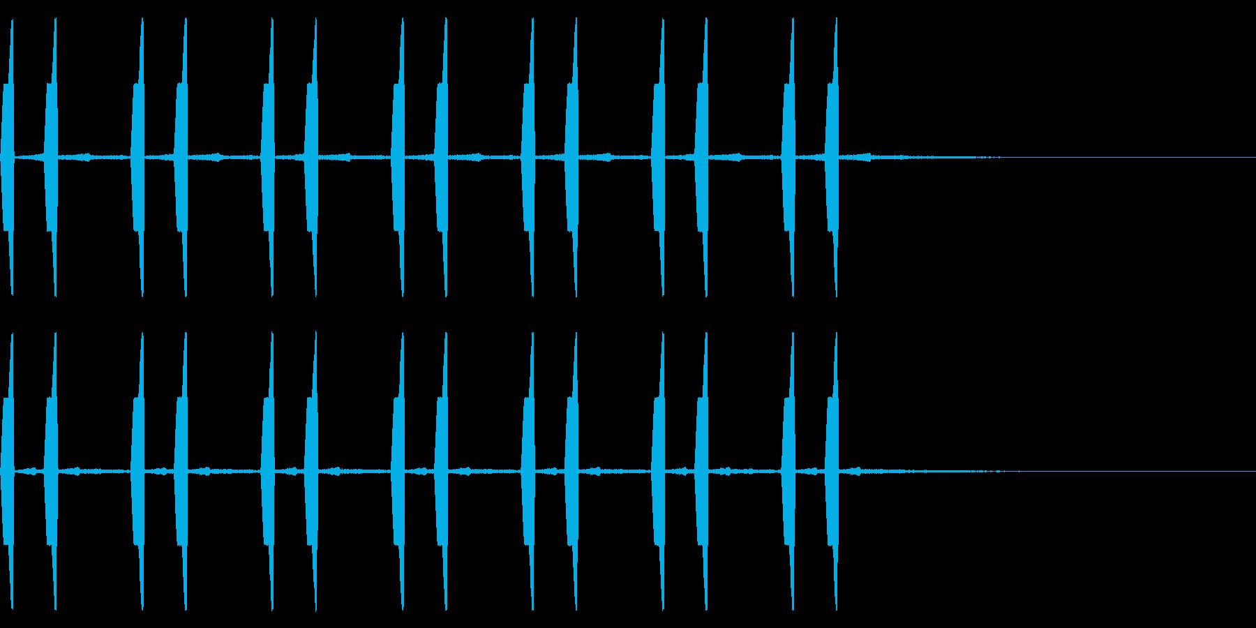 自主規制音 ひよこ ピヨピヨ の再生済みの波形