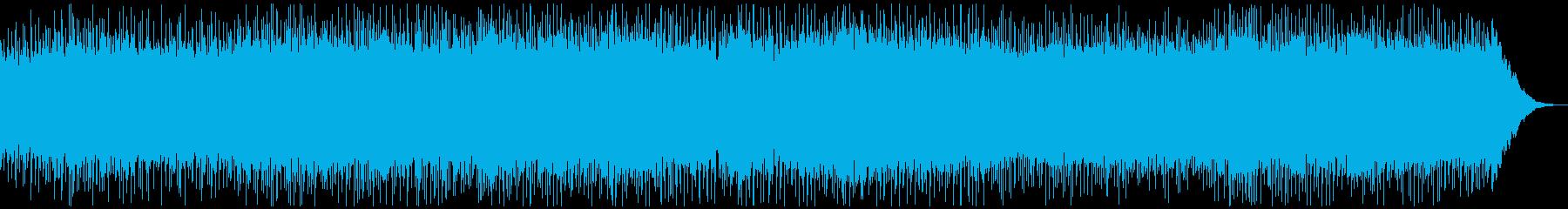 疾走感のあるエレキギターロックの再生済みの波形