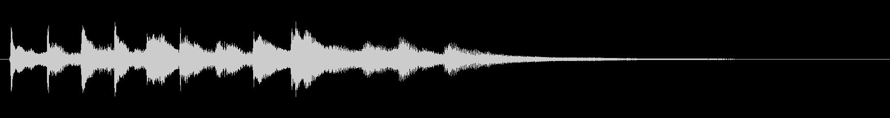 単純なフレーズのゆったりピアノジングルの未再生の波形