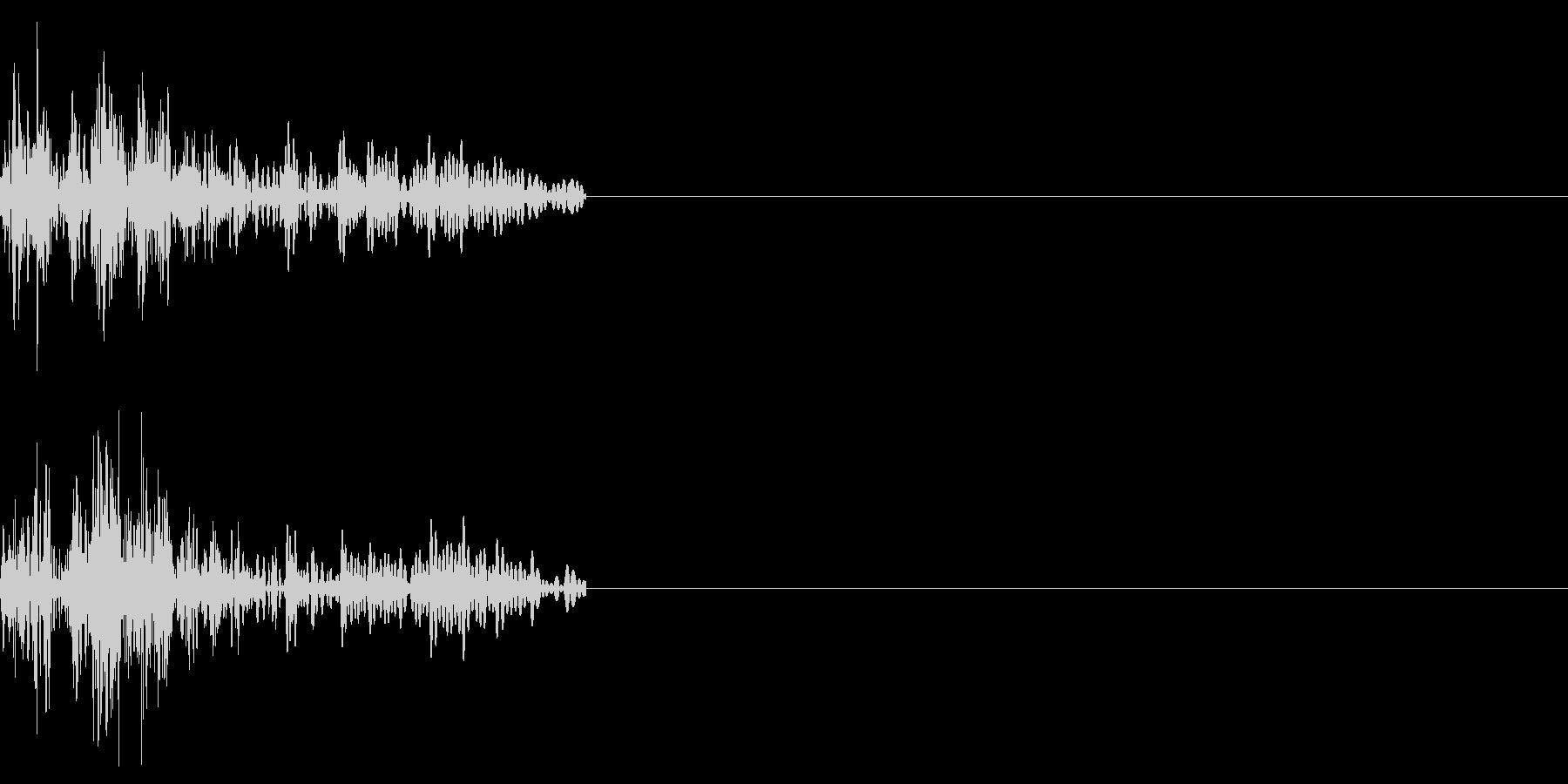 キャンセル音、ダイアログを閉じるなどの未再生の波形