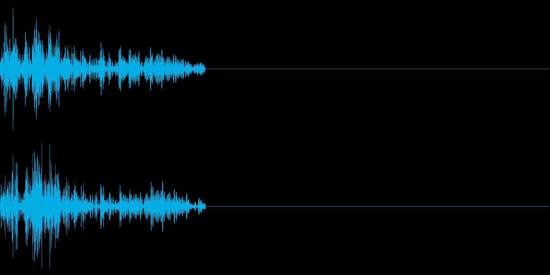 キャンセル音、ダイアログを閉じるなどの再生済みの波形