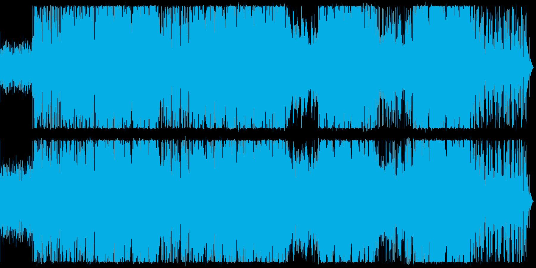 ブラスがアクセントのアクティブな曲の再生済みの波形
