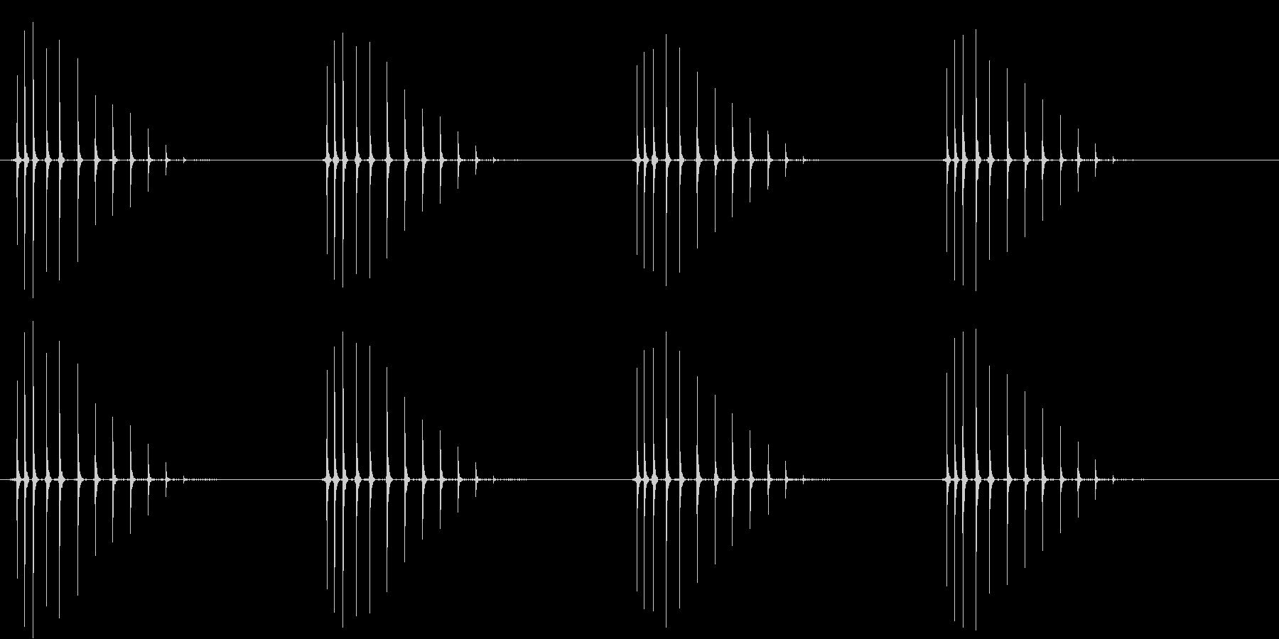 4回巻きます。の未再生の波形