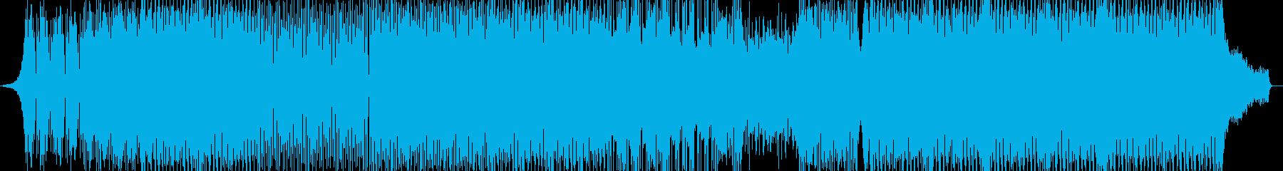 洋楽、元気系EDMトラックの再生済みの波形