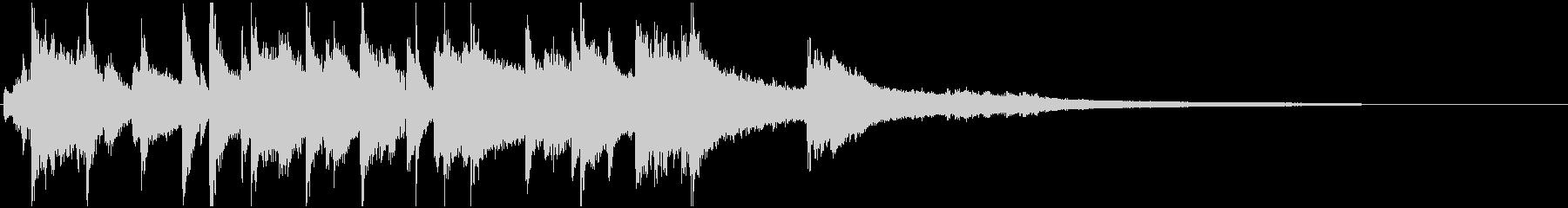 ラジオジングルの未再生の波形