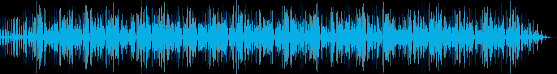 のんびりとした優しいマリンバ音楽の再生済みの波形