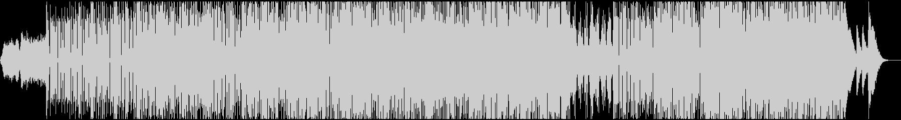 ミッドテンポのステディなリズムのテクノの未再生の波形