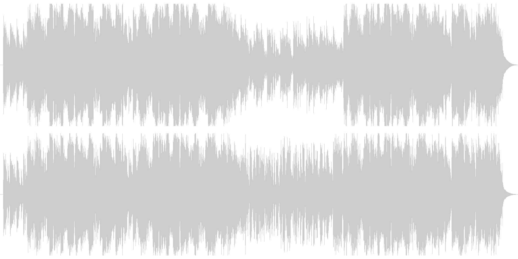 アコーディオンを使った かわいいワルツの未再生の波形