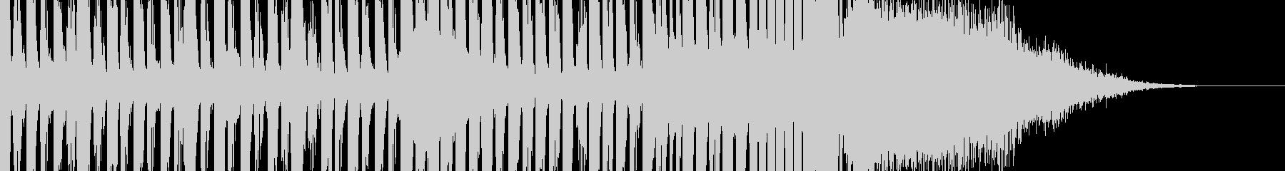 EDM風、上がっていくカッコいいジングルの未再生の波形