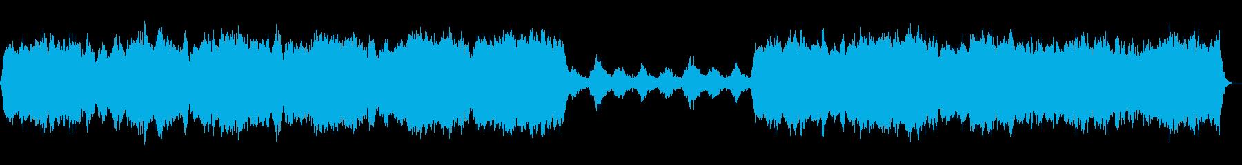 新しく始まる朝のようなアンビエントBGMの再生済みの波形