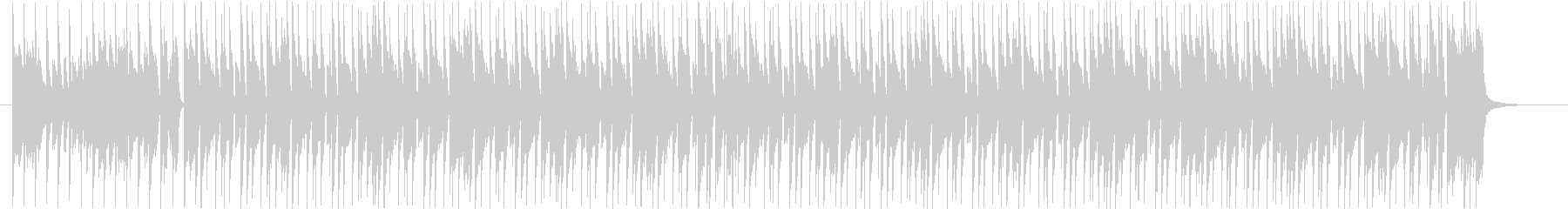 シンプルでかっこいいピアノポップスの未再生の波形