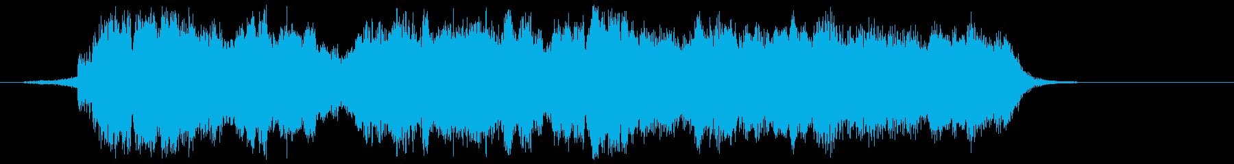 雄大なオーケストラのジングルの再生済みの波形