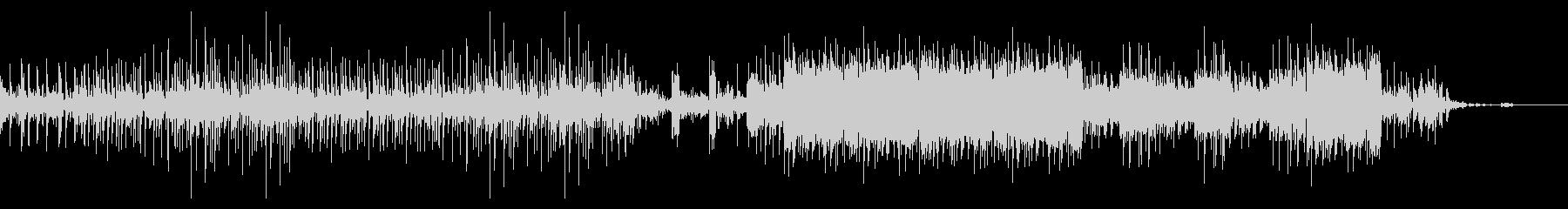 ダウンビートなエクスペリメンタルロックの未再生の波形