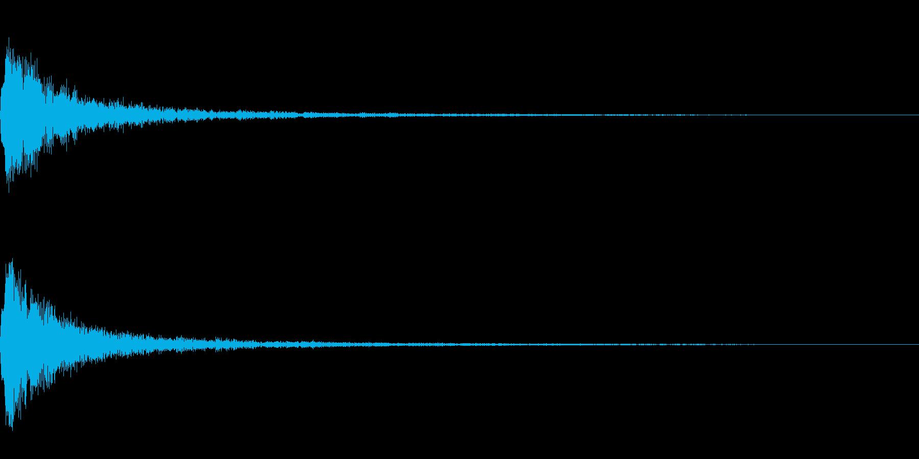 テロップ表示音~明るめの高音~の再生済みの波形
