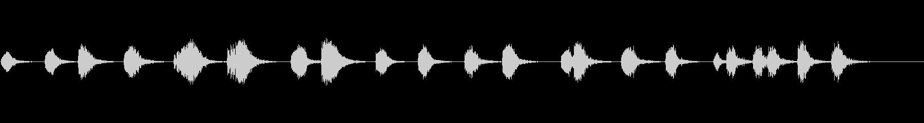 レーザーブラスト、リバーブあり:A...の未再生の波形