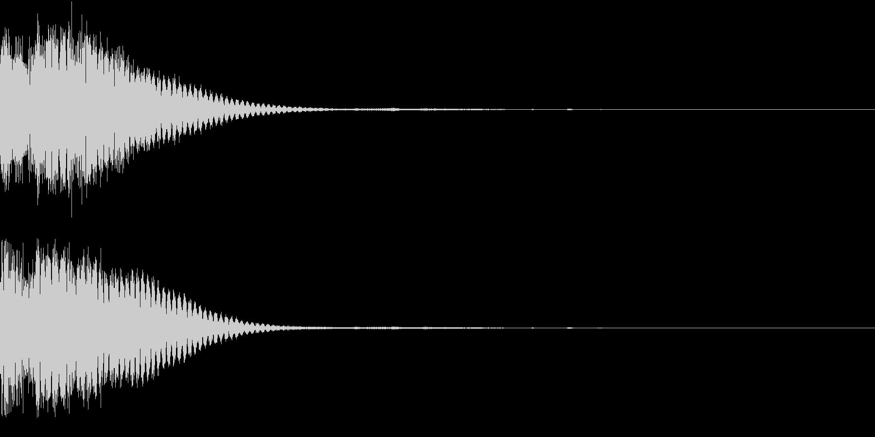 クリック音、キラン、キュイン、ピコン05の未再生の波形