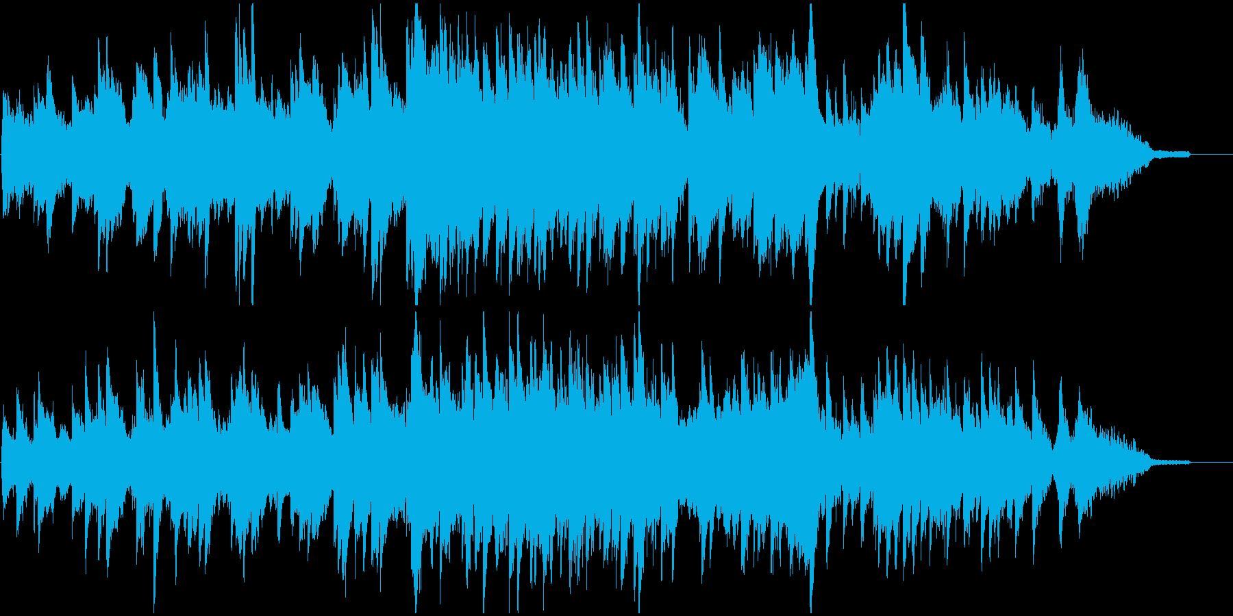 優しい雰囲気のストリングス楽曲の再生済みの波形