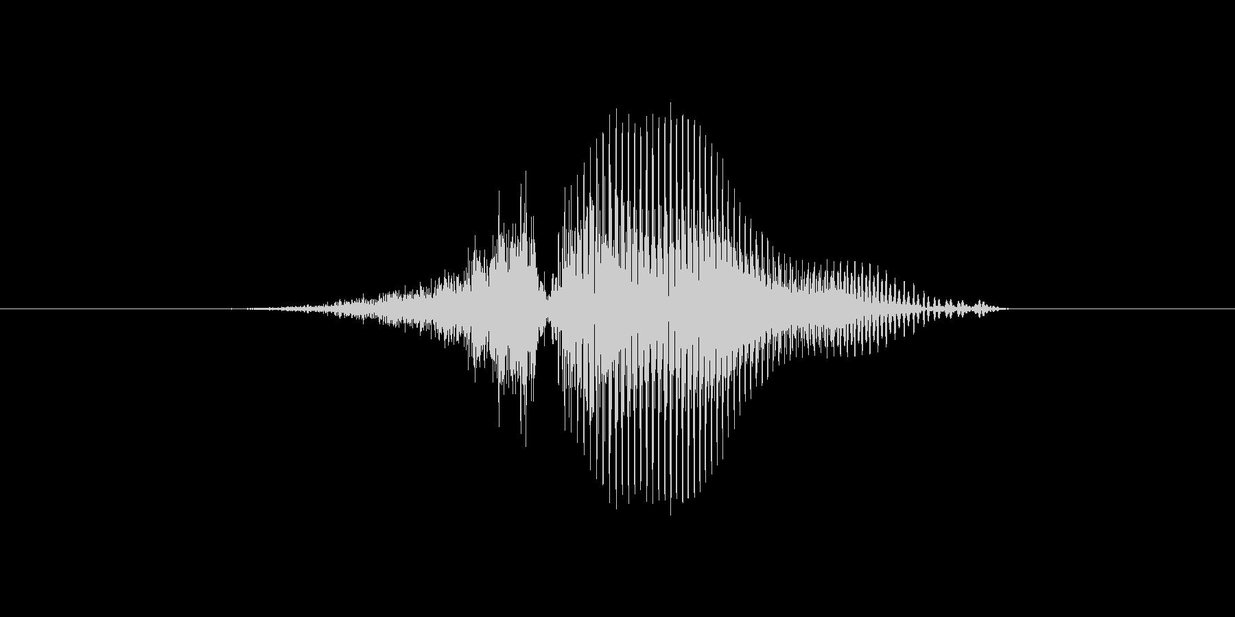 3(数字、女性)の未再生の波形