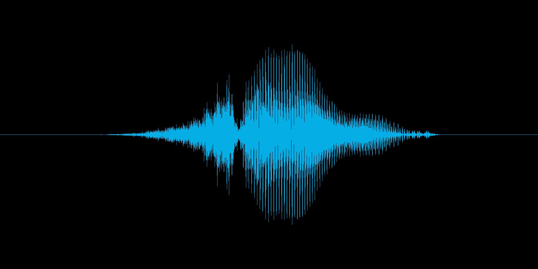 3(数字、女性)の再生済みの波形