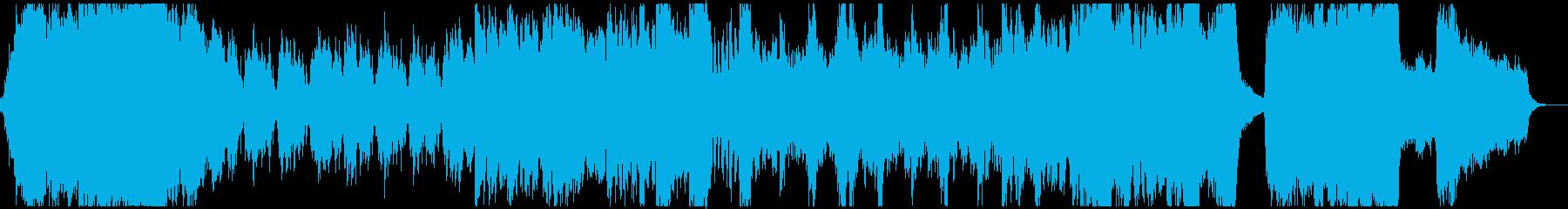 ハロウィン風の怪しく怪奇なオーケストラの再生済みの波形