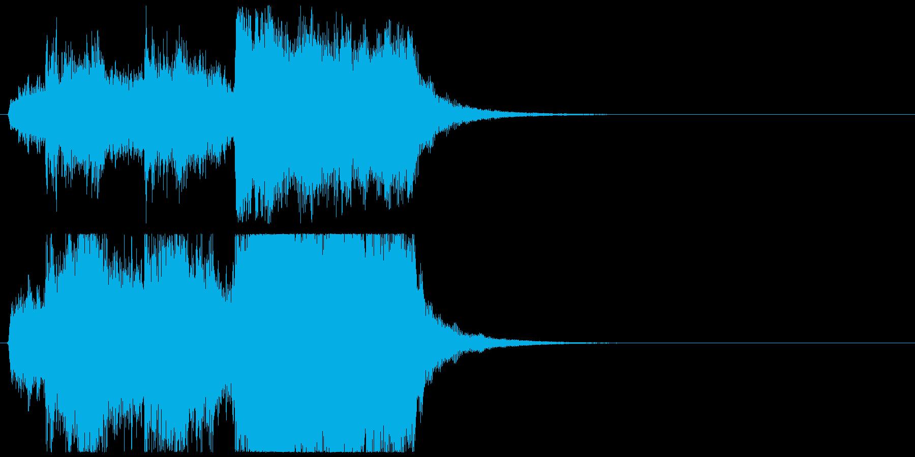 ジングル_ファンファーレ026 金管短めの再生済みの波形