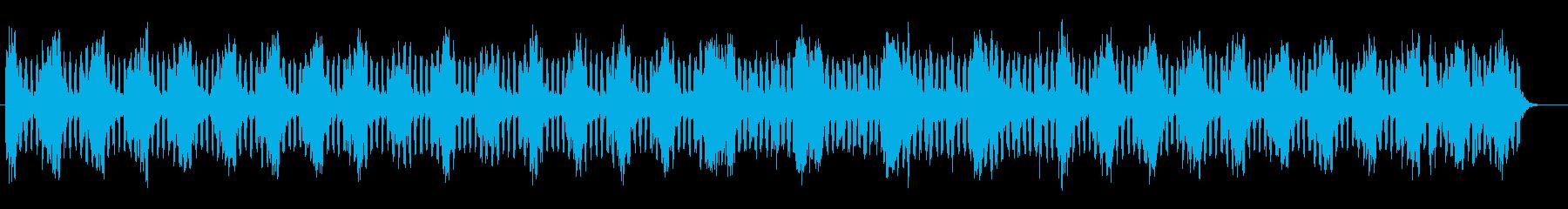 柔らかくしっとりとしたミュージックの再生済みの波形