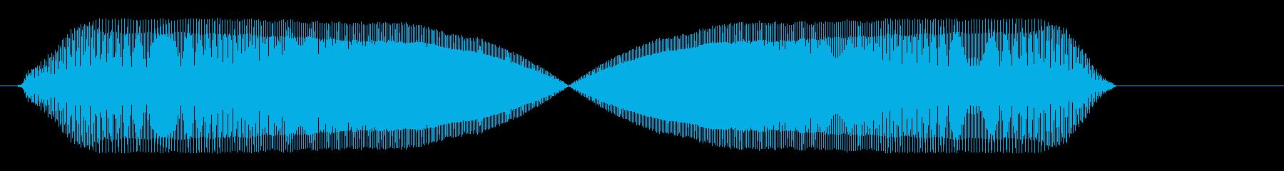 プゥィゥ〜(風船が膨らむような効果音)の再生済みの波形