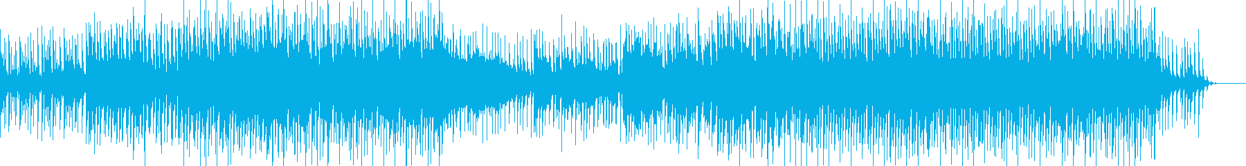 シーケンスフレーズが印象的なノリの良い曲の再生済みの波形
