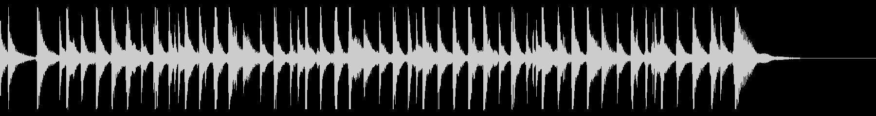 出囃子アレンジの「かごめかごめ」の未再生の波形