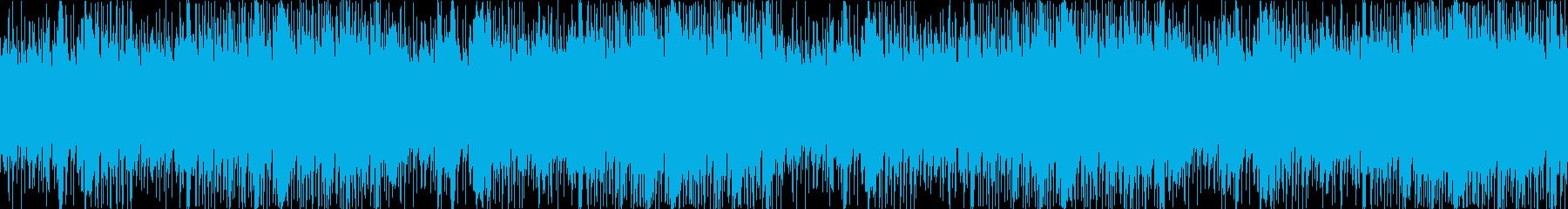 そよ風のふく丘を連想するエレクトロニカの再生済みの波形