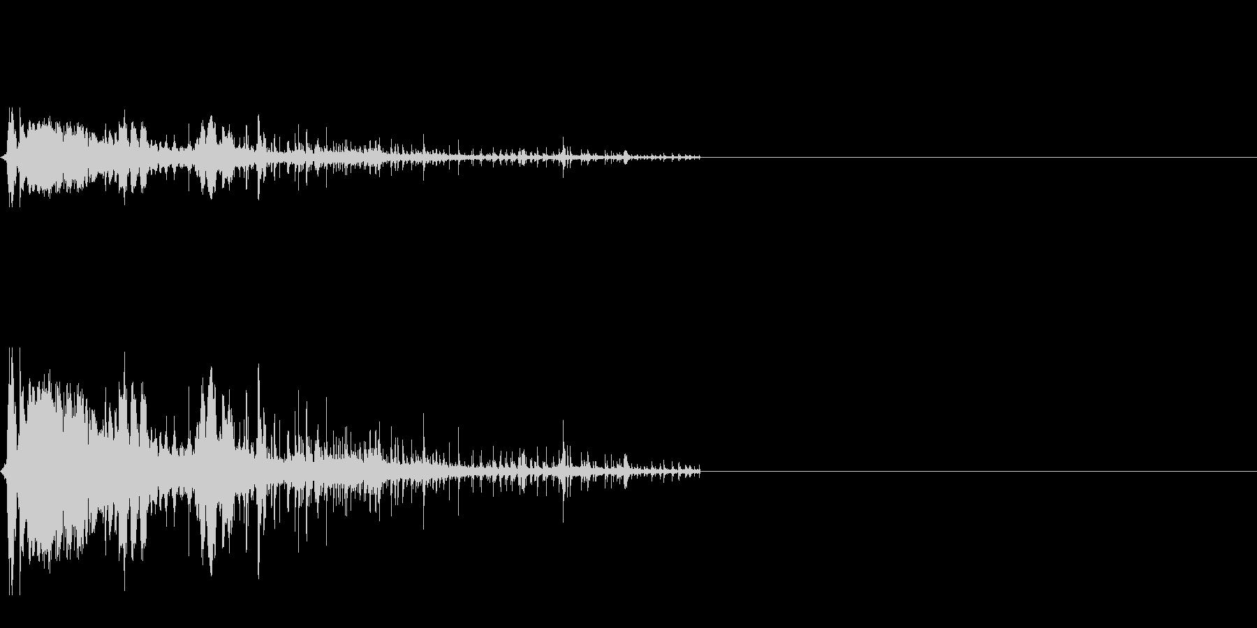 紙コップ自動販売機(ウィーチョロロロ)の未再生の波形