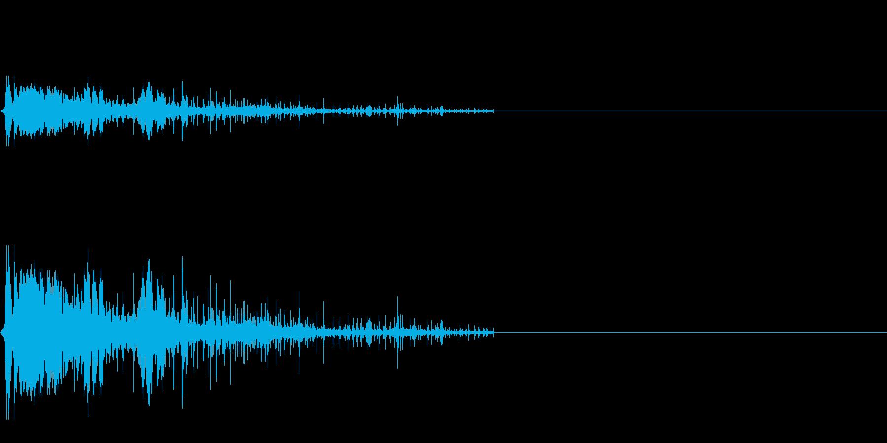 紙コップ自動販売機(ウィーチョロロロ)の再生済みの波形