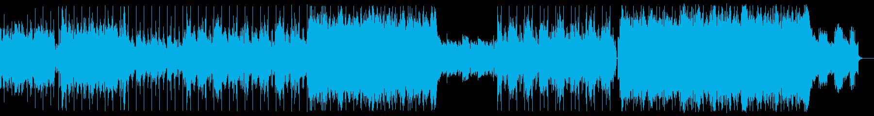 EDMなサウンドが印象的なアップテンポの再生済みの波形