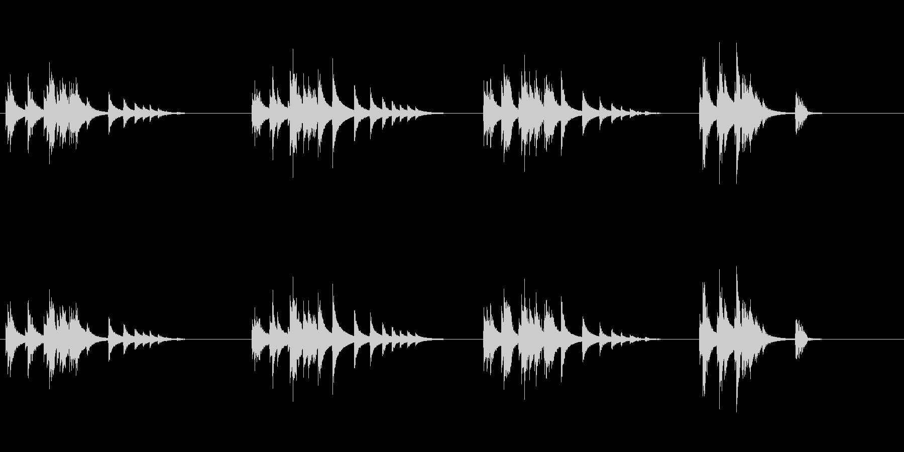 大太鼓10雨音歌舞伎情景描写和風和太鼓助の未再生の波形
