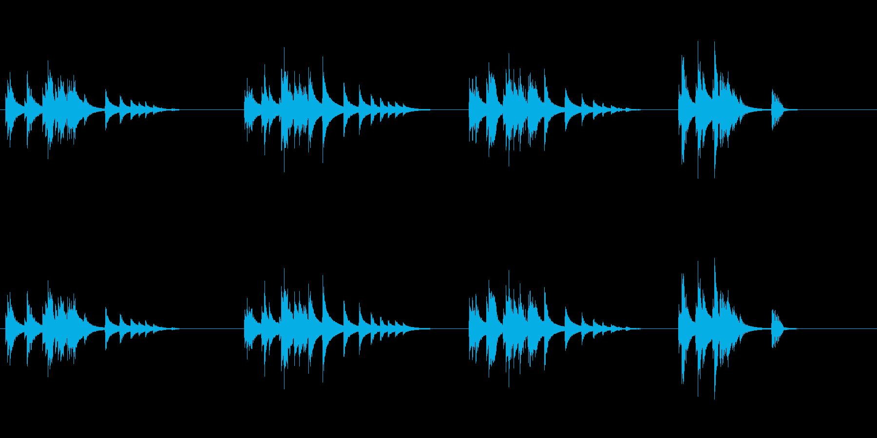 大太鼓10雨音歌舞伎情景描写和風和太鼓助の再生済みの波形