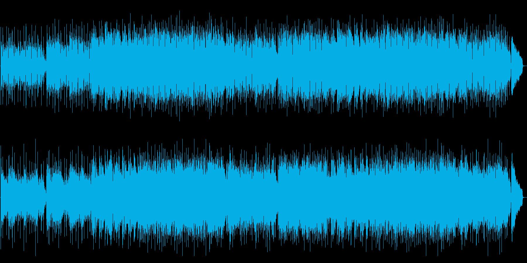 アコースティックギターの優しいメロディの再生済みの波形
