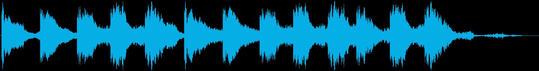 ホラーノベルゲーム等の静かな怖いBGMの再生済みの波形