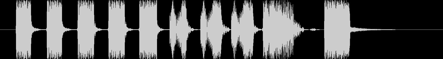 90sのHipHopのようなジングルの未再生の波形