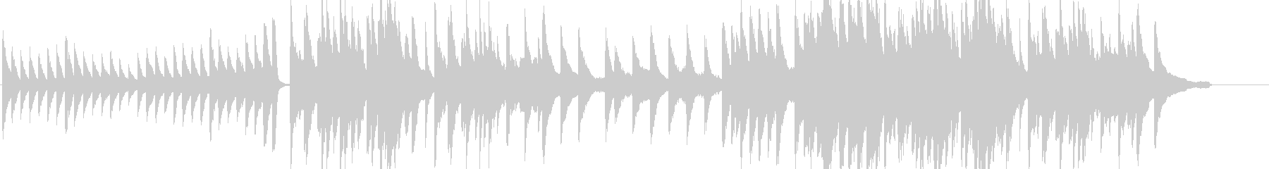 エンディング、最終回などに最適のピアノ曲の未再生の波形
