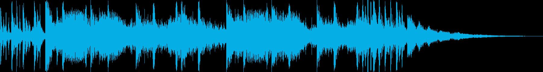 不気味で怖いミステリアスなホラー系楽曲の再生済みの波形
