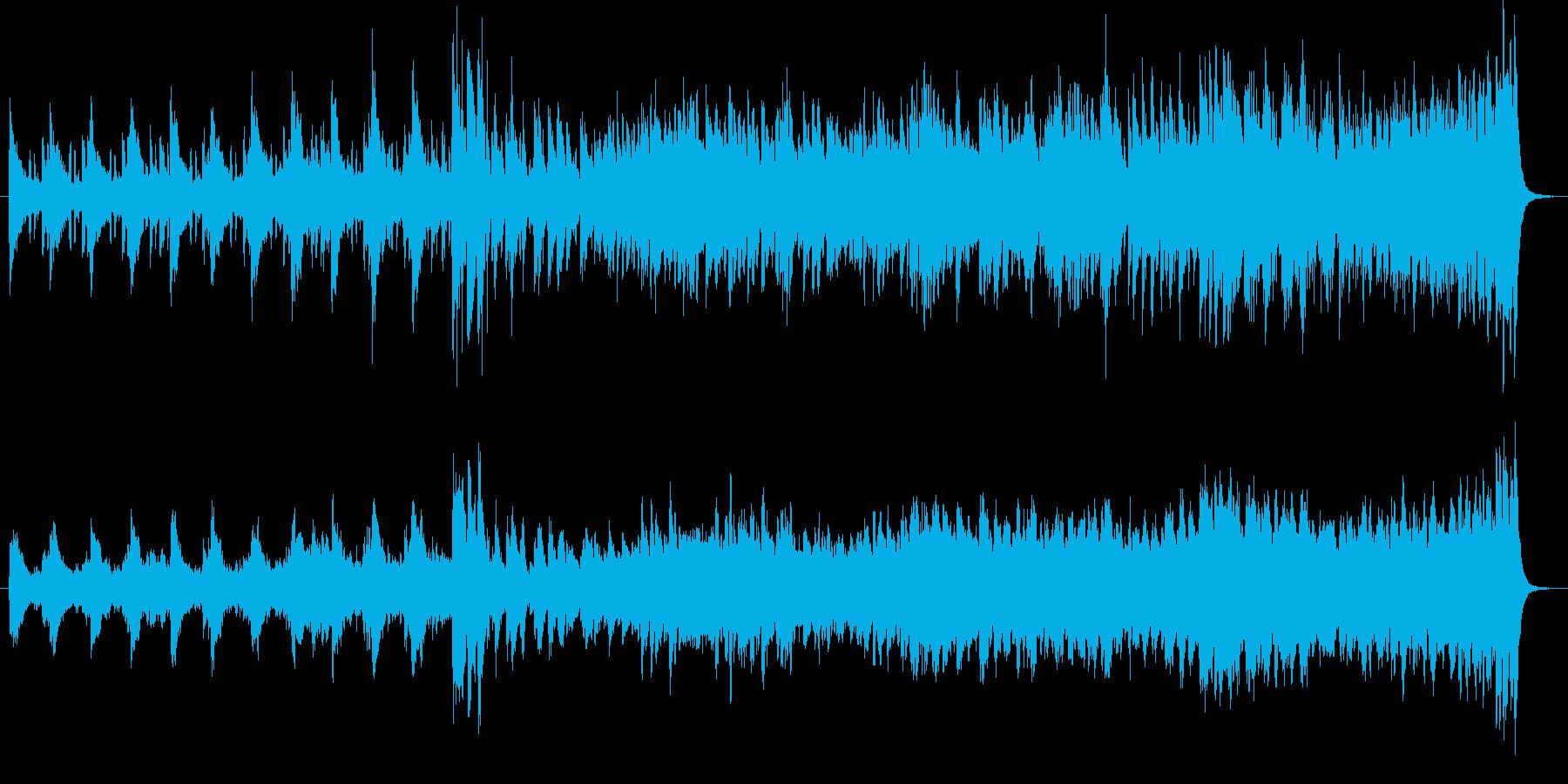 ・都会的なジャズの曲です・エレキギター…の再生済みの波形